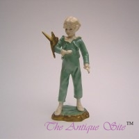Royal Worcester Figure of a Boy and Parakeet