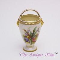 Royal Worcester Basket Vase