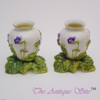 Royal Worcester Posy Vases (Pair)