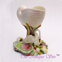 Royal Worcester Nautilus Majolica Shell Vase