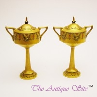 Royal Worcester Miniature Pedestal Vases