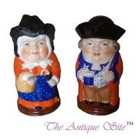 Royal Worcester (Mr & Mrs) Toby Jugs with Lids