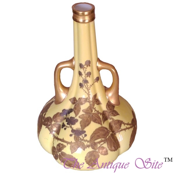 Royal Worcester Long Neck Vase The Antique Site