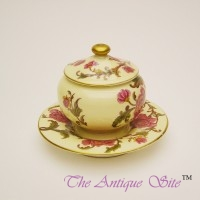 Royal Worcester Inkwell & Cover