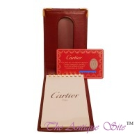 Cartier Burgundy Note Book