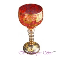 Red and Gold Glass Stemglass